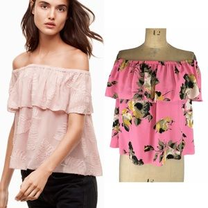 Wilfred Promener Off the Shoulder Blouse Size S